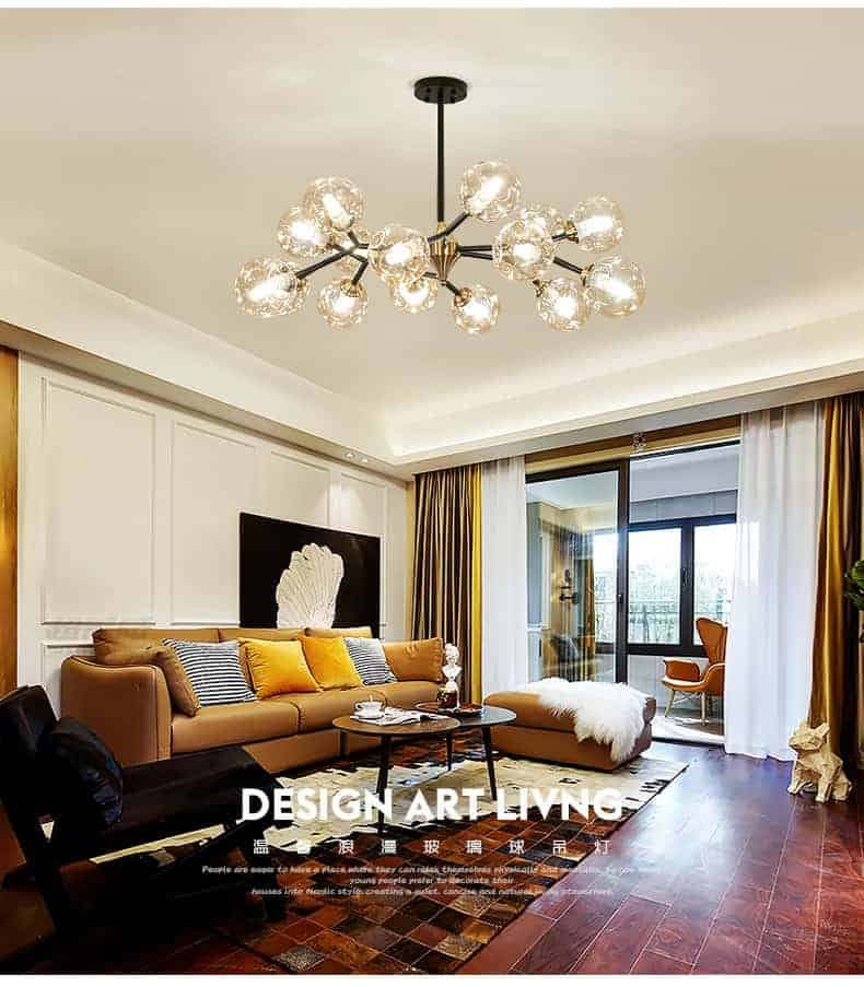 Đèn thả phòng khách phong cách Magic Pea, Đèn thả phòng khách, Đèn thả trần, Đèn thả trang trí, Đèn thả hiện đại, Đèn thả