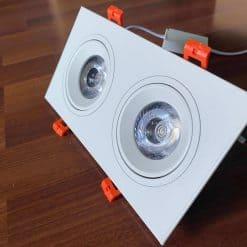 Đèn spotlight đôi vỏ hợp kim nhôm cao cấp